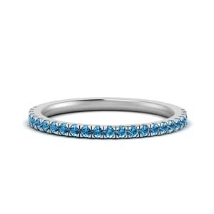 Platinum Topaz Diamond Band