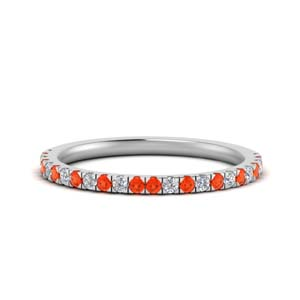 Delicate Orange Topaz Band
