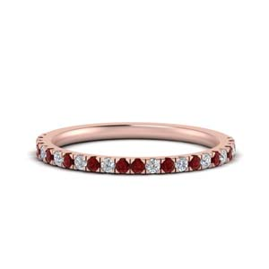 Simple Ruby Anniversary Band