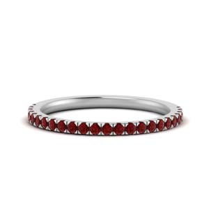 Ruby Women Wedding Band