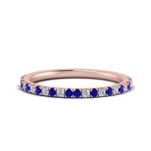 Simple Sapphire Anniversary Band