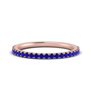 Simple Sapphire Wedding Band