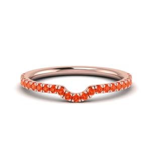 Rose Gold Orange Topaz Band