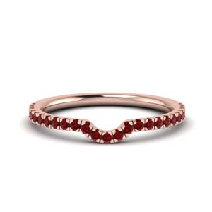 Contour Curved Ruby Band