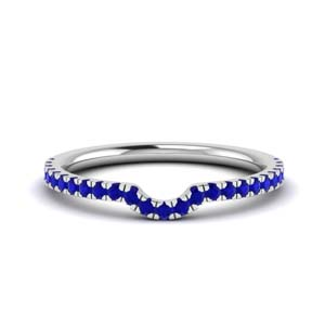 Contour Curved Sapphire Band