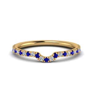 Beautiful Sapphire Curved Band