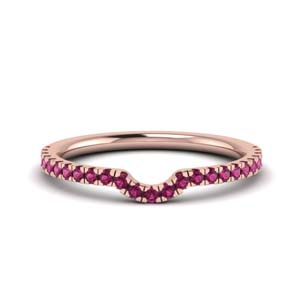 Pink Sapphire Contour Band