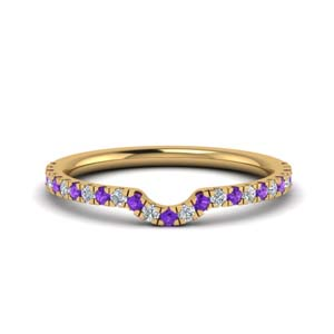 Purple Topaz Curved Band