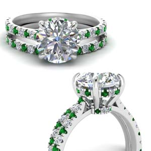 Emerald Cathedral Wedding Set