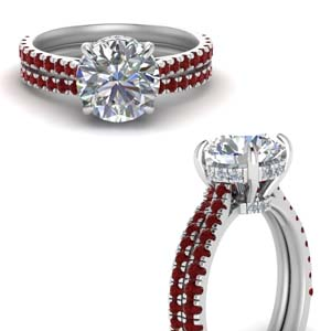 Beautiful Prong Wedding Set