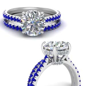 Hidden Halo Bridal Ring Set