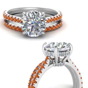 3 Carat Hidden Halo Bridal Set