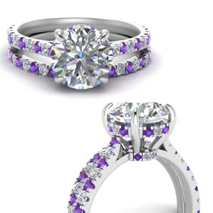 Purple Topaz Ring And Matching Band