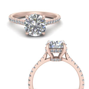 2 Ct. Diamond Hidden Halo Ring