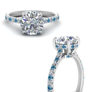 Under Halo Pave Diamond Ring