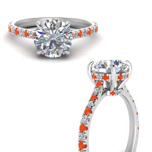 Hidden Halo Pave Set Diamond Ring