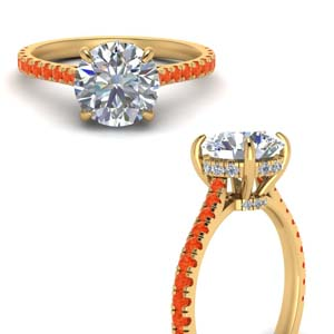 Orange Topaz Cathedral Ring