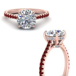 Under Halo Ruby Ring