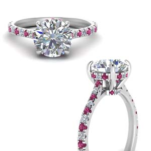 Petite Pave Set Diamond Ring