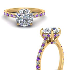 Purple Topaz Cathedral Ring