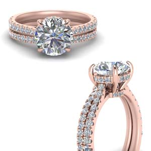 Under Halo Engagement Rings
