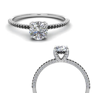 Delicate Under Halo Diamond Ring