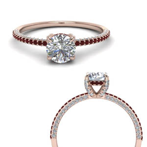 High Set Ruby Engagement Ring