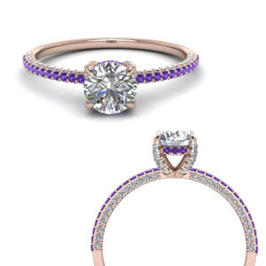 Purple Topaz High Set Ring