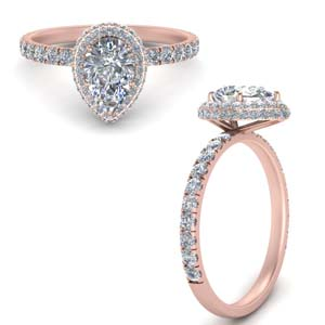 Under Halo Petite Diamond Ring
