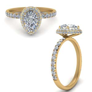 Pear Shaped Under Halo Ring