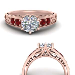 Beautiful Filigree Ring With Ruby