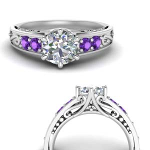 Platinum Purple Topaz Ring