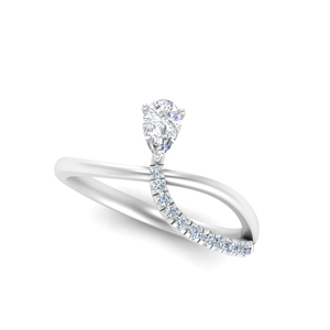 Pear Shaped Twisted Ring