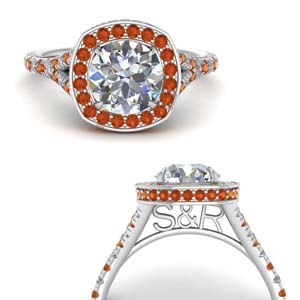 Round Halo Ring With Hidden Diamond