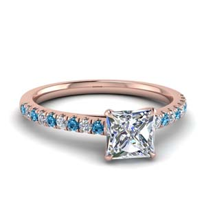 Topaz With French Pave Ring