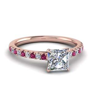 Thin Pink Sapphire Ring