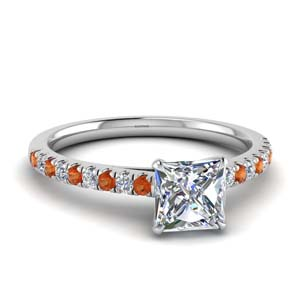 Thin Orange Sapphire Ring