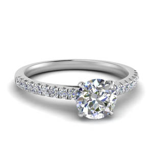 Thin Moissanite Engagement Ring