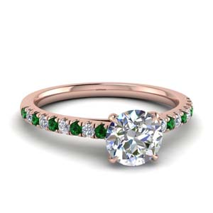 Delicate Emerald Wedding Ring