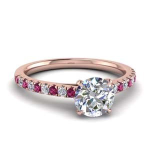 Pink Sapphire Thin Ring