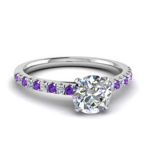 U Prong Purple Topaz Ring