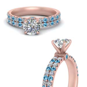 Topaz 2 Row Diamond Ring For Women