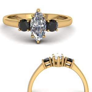 Basket Black Diamond Ring