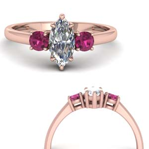 Marquise Ring With Pink Sapphire