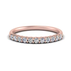 Shared Prong Band 18K Rose Gold