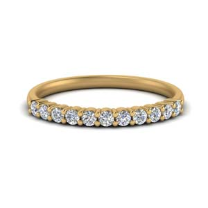 14K Yellow Gold 0.25 Ct. Wedding Band