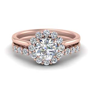 Flower Ring With Diamond Band
