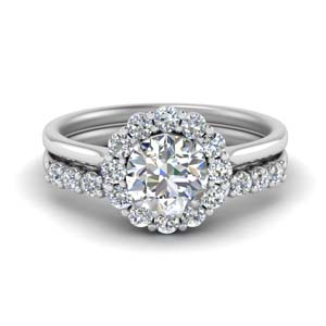 Floating Diamond Wedding Set