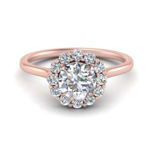 Cathedral Flower Diamond Ring Setting