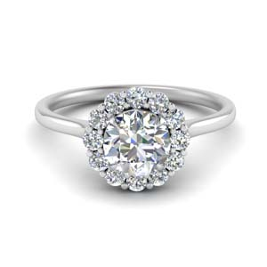 Cathedral Flower Diamond Ring